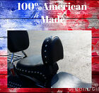 AMERICAN MADE Harley 07 17 Heritage Softail Fatboy Driver Backrest EZ ON OFF