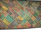 Kutch Embroidery Tapestry Olive Green Wall Hanging Throw