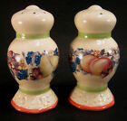 Avon Sweet Country Harvest Ceramic Ivory Fruits Salt and Pepper Shakers