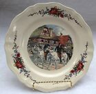 OBERNAI FAIENCERIES SARREGUEMINES FRANCE DINNER PLATE - 9.75 INCHES - plate J