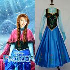 Hot Movie FROZEN Princess Anna Dress Suit Cosplay Costume For Adult Dress