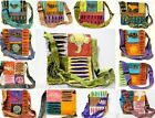 Patchwork Hippie Animal Bird Flowers Peace Sign Shoulder Messenger Elephant Bag