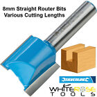 Silverline 8mm Straight Metric Cutters Router Bit TCT Single Twin Fluted Kitchen