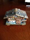 Vintage JEC Water Wheel Swiss Chalet Wooden Music Box - Cuendet Switzerland Mvmt