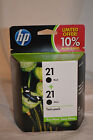 HP 21 Black Ink Cartridge Twin/Multi-Pack - Expired Aug 2011