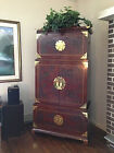 Drexel Heritage Ming Treasures Entertainment Center 3 Tier Stacked Cabinet