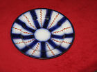 "Antique Gaudy Flow Blue Lusterware 8-1/2"" Wagon Wheel Dessert Plate"