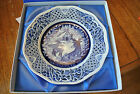 Schumann Pierced Reticulated 1981 Christmas Plate 10 inches Germany w/ box COA