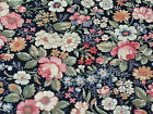 Country Florals by Joan Kessler for Concord BTY Calico Flowers on Navy