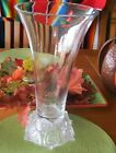 HUGE Frosted SHANNON CRYSTAL Designs of Ireland Crystal ROSE Vase Czech Republic