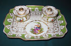 Antique 1891-1914 Richard Klemm Meissen Double Inkwell with Tray