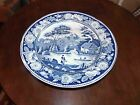 Antique Staffordshire ? Blue & White Transfer Plate 7 1/2