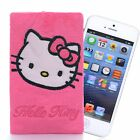 Pink Hello Kitty Plush phone Iphone 5s 5 Case Pouch Cartoon Card Bag 3*6'' New
