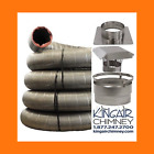 Chimney INSERT liner kit 6x20 STAINLESS STEEL w/ Cap EASY INSTALL Lifetime Wrnty