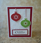 Handmade Holiday Ornamets Card kit 4 cards Stampin UP Christmas cards