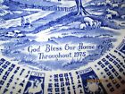 1975 Alfred Meakin Staffordshire Calander Zodiac Plate God Bless Our House 9