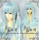 Lolita girl wig LO niang girl/volume blue /gold gradient curls Cosplay Wig