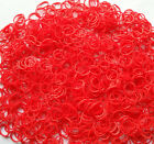 600 Red Loom Rubber Band Refills Bracelet Bands Fit Rainbow Loom 24 Clip f9
