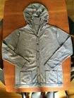 Cashmere Wool Blend Men's Hooded Cardigan Size M Grey