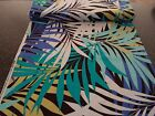 Palm Breeze by Michael Miller BTY Giant Leaf Print Blue Aqua Green Brown Ivory