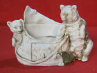 Antique Grafenthal bisque bears match holder spill vase figurine 9771 G dep mark