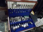 SERVICE FOR 8 WM ROGERS SILVERPLATE FLATWARE NO MONOGRAMS ASST SERVING PCS