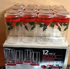 NIB Beautiful Vintage LIBBEY Holiday 12 Piece Glassware Set -
