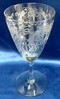 4 Lippincott Antique Etched Stemware Wine Goblet Optic Rib Bird Of Paradise