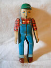 MARX TIN LITHO WIND UP TOY DRIVER FARMER TRACTOR STEAM ROLLER TRUCK ARMS MOVE $$