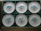 LENOX  SET  6  DIFFERENT BUTTER PATS HORSE, ROOSTER, TRAIN,,ANGEL,SHIP,FISH