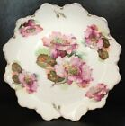 Vintage R.C. CROWN MALMAISON BAVARIA Pink Purple Rose Flower Plate Platter
