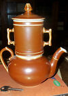 Pilivite Pillivuyt Teapot one cup with infuser Brown Luster France 3pcs vintage