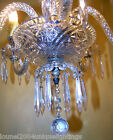 VINTAGE 1920s Quality bohemian crystal chandelier hand blown arms prism LIGHTING