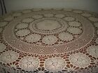 HANDMADE CROCHET LACE TABLE CLOTH/TOPPER  45x45