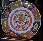 Japanese Porcelain - Charger - Plate - With Flowers - Scalloped Edge - Marked