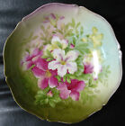 STUNNING, VINTAGE HAND PAINTED LARGE BOWL/PLATE ,CROWN BAVARIA LILY PINK