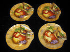 2 OF 2  8 PIECES VINTAGE FRUIT HAND PAINTED WITH GOLD TRIM JAPAN CHINA TEA  SET