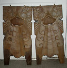2 Art Deco Cast Iron Theatre Chair Panels - 1930s Heywood Wakefield End Caps