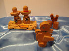 Rooster Shaker, Set of Dice and Set of Mexico Salt and Pepper Shakers wood duck