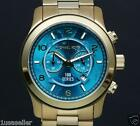 NEW NWT Michael Kors Watch Hunger Stop MK8315 Gold Turquoise Blue Oversized Dial