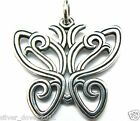 James Avery 20+ Grams HUGE Butterfly Open-Work Sterling Silver Pendant 2
