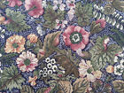 Country Florals by Joan Kessler for Concord BTY Dust Rose on Navy Blue