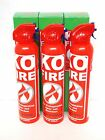 New KO FIRE Extinguisher for small fires Car Kitchen or Camp 10 OZ ((3 Pack))