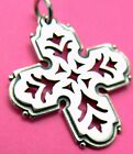 James Avery Retired Openwork Cross Pendant ~ Sterling Silver