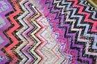 Apparel Fabric: Chevron Crochet Print Rayon 58