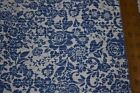 Apparel Fabric: Polyester Cotton Blue/White Floral Print Sewing. By the yard.