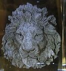 LION HEAD 3D CRYSTAL LASER ETCHED PAPERWEIGHT