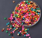 1000pcs Jewelry Making Finding Diy Wood Round Charms Loose Spacer Beads 3x4mm