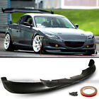 For 04 08 RX8 RX 8 Unpainted Urethane Sport Style PU Front Bumper Lip Body Kit