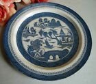 Vtg Canton Wood & Sons Woods Ware blue transfer ware dinner plate